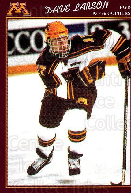 1995-96 Minnesota Golden Gophers #20 Dave Larson<br/>1 In Stock - $3.00 each - <a href=https://centericecollectibles.foxycart.com/cart?name=1995-96%20Minnesota%20Golden%20Gophers%20%2320%20Dave%20Larson...&quantity_max=1&price=$3.00&code=670099 class=foxycart> Buy it now! </a>