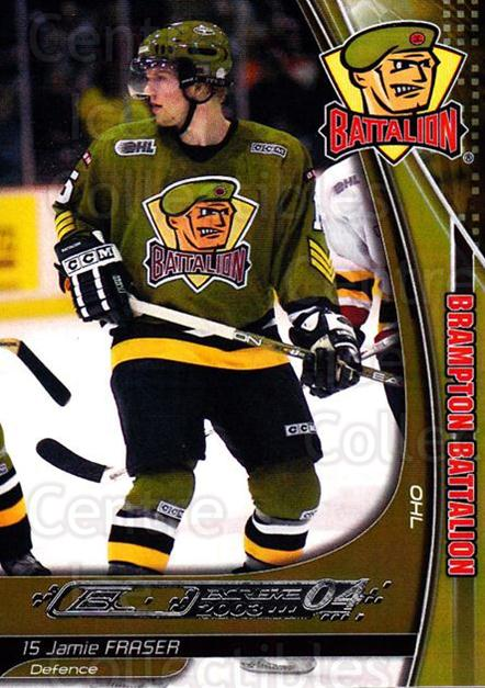 2003-04 Brampton Battalion #5 Jamie Fraser<br/>1 In Stock - $3.00 each - <a href=https://centericecollectibles.foxycart.com/cart?name=2003-04%20Brampton%20Battalion%20%235%20Jamie%20Fraser...&price=$3.00&code=670234 class=foxycart> Buy it now! </a>