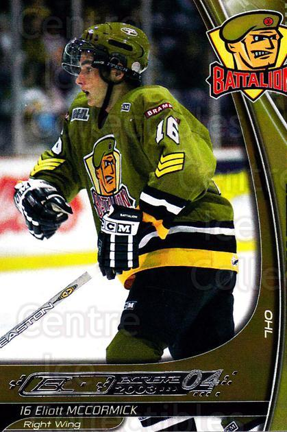 2003-04 Brampton Battalion #13 Eliott McCormick<br/>1 In Stock - $3.00 each - <a href=https://centericecollectibles.foxycart.com/cart?name=2003-04%20Brampton%20Battalion%20%2313%20Eliott%20McCormic...&price=$3.00&code=670242 class=foxycart> Buy it now! </a>