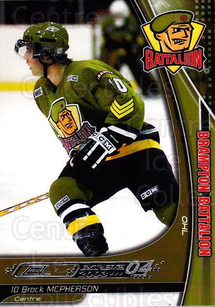 2003-04 Brampton Battalion #14 Brock McPherson<br/>1 In Stock - $3.00 each - <a href=https://centericecollectibles.foxycart.com/cart?name=2003-04%20Brampton%20Battalion%20%2314%20Brock%20McPherson...&price=$3.00&code=670243 class=foxycart> Buy it now! </a>