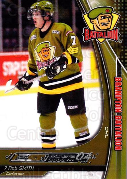 2003-04 Brampton Battalion #21 Rob Smith<br/>1 In Stock - $3.00 each - <a href=https://centericecollectibles.foxycart.com/cart?name=2003-04%20Brampton%20Battalion%20%2321%20Rob%20Smith...&price=$3.00&code=670250 class=foxycart> Buy it now! </a>