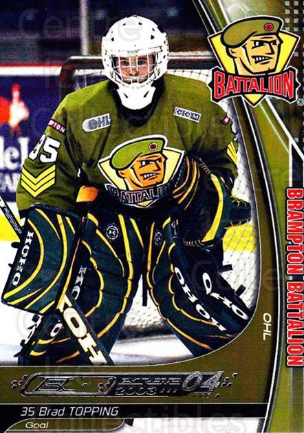 2003-04 Brampton Battalion #23 Brad Topping<br/>1 In Stock - $3.00 each - <a href=https://centericecollectibles.foxycart.com/cart?name=2003-04%20Brampton%20Battalion%20%2323%20Brad%20Topping...&price=$3.00&code=670252 class=foxycart> Buy it now! </a>