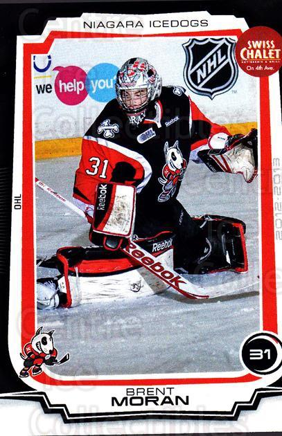 2012-13 Niagara IceDogs #2 Brent Moran<br/>1 In Stock - $3.00 each - <a href=https://centericecollectibles.foxycart.com/cart?name=2012-13%20Niagara%20IceDogs%20%232%20Brent%20Moran...&quantity_max=1&price=$3.00&code=670564 class=foxycart> Buy it now! </a>