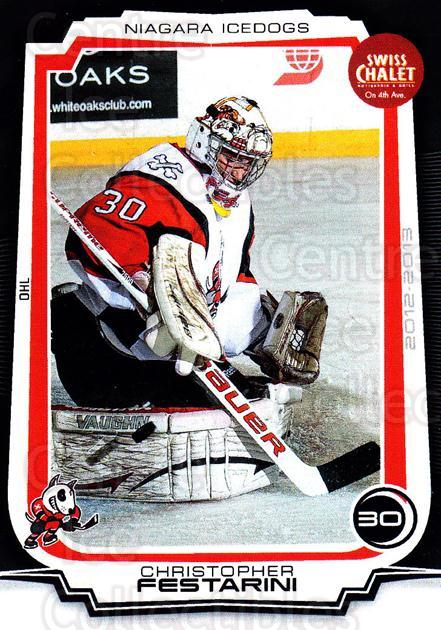 2012-13 Niagara IceDogs #3 Christoph Festarini<br/>1 In Stock - $3.00 each - <a href=https://centericecollectibles.foxycart.com/cart?name=2012-13%20Niagara%20IceDogs%20%233%20Christoph%20Festa...&quantity_max=1&price=$3.00&code=670565 class=foxycart> Buy it now! </a>