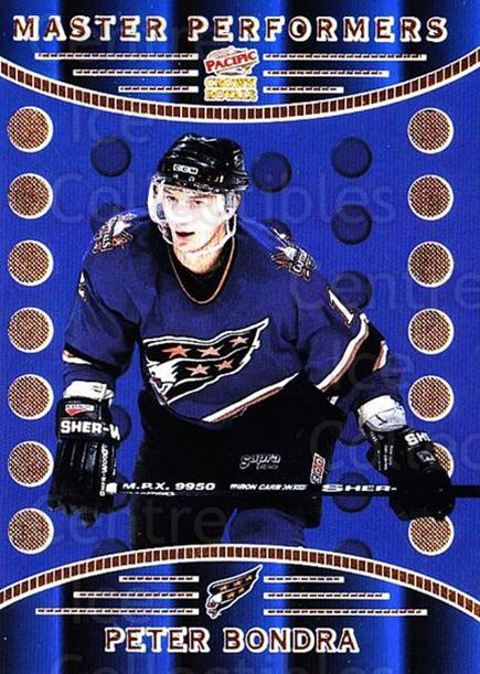 1998-99 Crown Royale Master Performers #20 Peter Bondra<br/>1 In Stock - $3.00 each - <a href=https://centericecollectibles.foxycart.com/cart?name=1998-99%20Crown%20Royale%20Master%20Performers%20%2320%20Peter%20Bondra...&quantity_max=1&price=$3.00&code=67057 class=foxycart> Buy it now! </a>