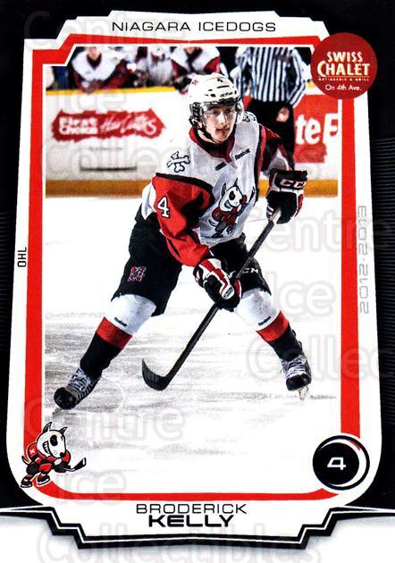2012-13 Niagara IceDogs #25 Broderick Kelly<br/>1 In Stock - $3.00 each - <a href=https://centericecollectibles.foxycart.com/cart?name=2012-13%20Niagara%20IceDogs%20%2325%20Broderick%20Kelly...&quantity_max=1&price=$3.00&code=670587 class=foxycart> Buy it now! </a>