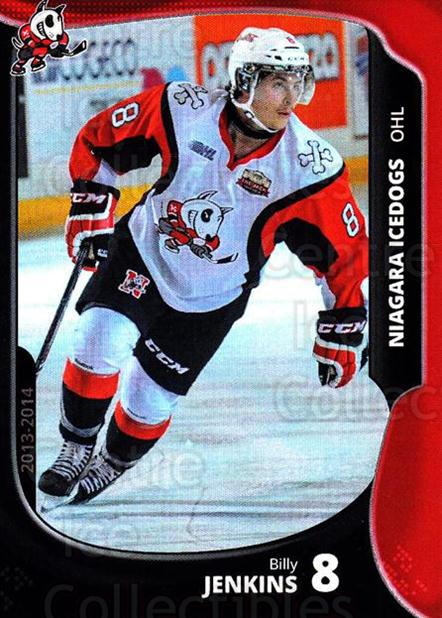 2013-14 Niagara IceDogs #6 Billy Jenkins<br/>2 In Stock - $3.00 each - <a href=https://centericecollectibles.foxycart.com/cart?name=2013-14%20Niagara%20IceDogs%20%236%20Billy%20Jenkins...&quantity_max=2&price=$3.00&code=670596 class=foxycart> Buy it now! </a>