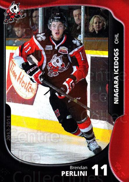 2013-14 Niagara IceDogs #9 Brendan Perlini<br/>1 In Stock - $3.00 each - <a href=https://centericecollectibles.foxycart.com/cart?name=2013-14%20Niagara%20IceDogs%20%239%20Brendan%20Perlini...&price=$3.00&code=670599 class=foxycart> Buy it now! </a>