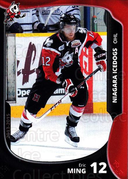2013-14 Niagara IceDogs #10 Eric Ming<br/>2 In Stock - $3.00 each - <a href=https://centericecollectibles.foxycart.com/cart?name=2013-14%20Niagara%20IceDogs%20%2310%20Eric%20Ming...&price=$3.00&code=670600 class=foxycart> Buy it now! </a>