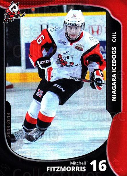2013-14 Niagara IceDogs #13 Mitchell Fitzmorris<br/>2 In Stock - $3.00 each - <a href=https://centericecollectibles.foxycart.com/cart?name=2013-14%20Niagara%20IceDogs%20%2313%20Mitchell%20Fitzmo...&price=$3.00&code=670603 class=foxycart> Buy it now! </a>