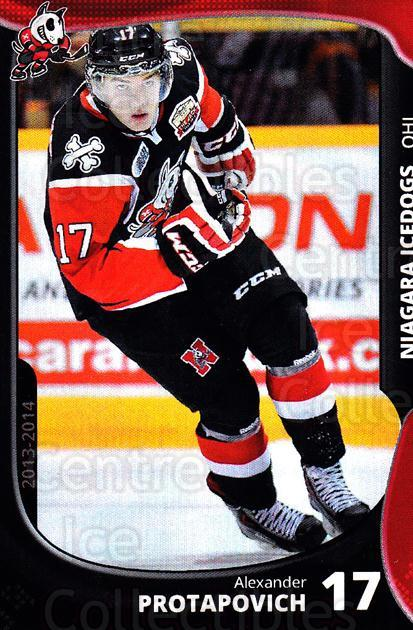 2013-14 Niagara IceDogs #14 Alexander Protapovich<br/>2 In Stock - $3.00 each - <a href=https://centericecollectibles.foxycart.com/cart?name=2013-14%20Niagara%20IceDogs%20%2314%20Alexander%20Prota...&price=$3.00&code=670604 class=foxycart> Buy it now! </a>