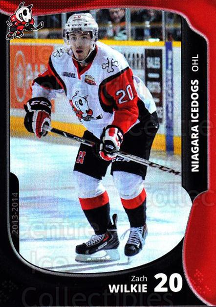 2013-14 Niagara IceDogs #15 Zach Wilkie<br/>2 In Stock - $3.00 each - <a href=https://centericecollectibles.foxycart.com/cart?name=2013-14%20Niagara%20IceDogs%20%2315%20Zach%20Wilkie...&quantity_max=2&price=$3.00&code=670605 class=foxycart> Buy it now! </a>