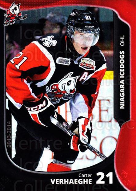 2013-14 Niagara IceDogs #16 Carter Verhaeghe<br/>2 In Stock - $3.00 each - <a href=https://centericecollectibles.foxycart.com/cart?name=2013-14%20Niagara%20IceDogs%20%2316%20Carter%20Verhaegh...&price=$3.00&code=670606 class=foxycart> Buy it now! </a>