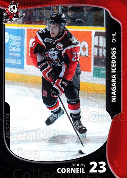 2013-14 Niagara IceDogs #18 Johnny Corneil<br/>1 In Stock - $3.00 each - <a href=https://centericecollectibles.foxycart.com/cart?name=2013-14%20Niagara%20IceDogs%20%2318%20Johnny%20Corneil...&quantity_max=1&price=$3.00&code=670608 class=foxycart> Buy it now! </a>