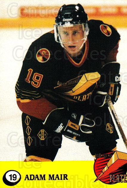 1995-96 Owen Sound Platers #19 Adam Mair<br/>1 In Stock - $3.00 each - <a href=https://centericecollectibles.foxycart.com/cart?name=1995-96%20Owen%20Sound%20Platers%20%2319%20Adam%20Mair...&quantity_max=1&price=$3.00&code=670703 class=foxycart> Buy it now! </a>