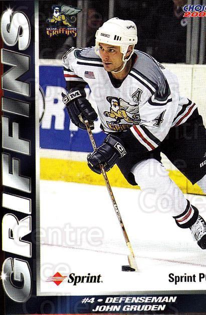 2001-02 Grand Rapids Griffins #2 John Gruden<br/>1 In Stock - $3.00 each - <a href=https://centericecollectibles.foxycart.com/cart?name=2001-02%20Grand%20Rapids%20Griffins%20%232%20John%20Gruden...&price=$3.00&code=670748 class=foxycart> Buy it now! </a>