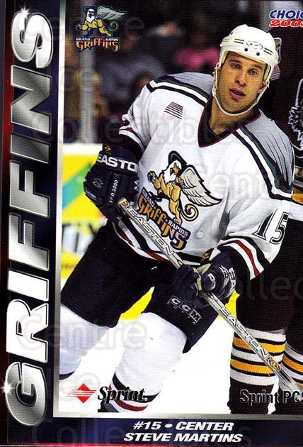 2001-02 Grand Rapids Griffins #8 Steve Martins<br/>1 In Stock - $3.00 each - <a href=https://centericecollectibles.foxycart.com/cart?name=2001-02%20Grand%20Rapids%20Griffins%20%238%20Steve%20Martins...&price=$3.00&code=670754 class=foxycart> Buy it now! </a>