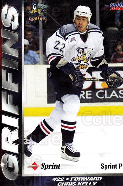2001-02 Grand Rapids Griffins #14 Chris Kelly<br/>1 In Stock - $3.00 each - <a href=https://centericecollectibles.foxycart.com/cart?name=2001-02%20Grand%20Rapids%20Griffins%20%2314%20Chris%20Kelly...&price=$3.00&code=670760 class=foxycart> Buy it now! </a>