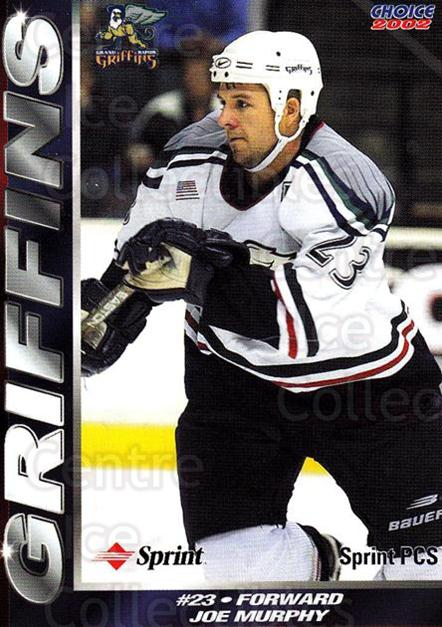 2001-02 Grand Rapids Griffins #15 Joe Murphy<br/>1 In Stock - $3.00 each - <a href=https://centericecollectibles.foxycart.com/cart?name=2001-02%20Grand%20Rapids%20Griffins%20%2315%20Joe%20Murphy...&quantity_max=1&price=$3.00&code=670761 class=foxycart> Buy it now! </a>