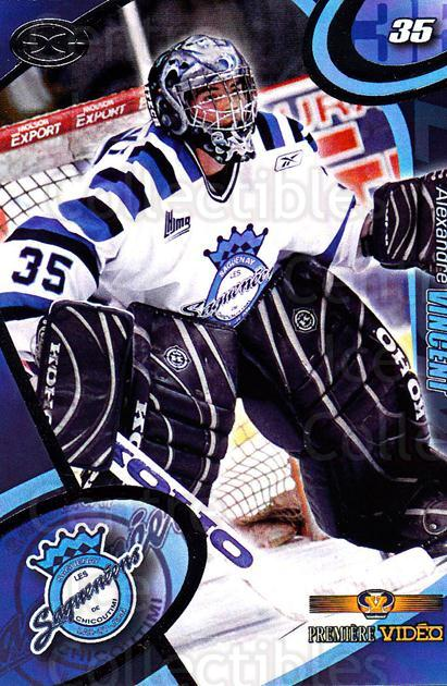 2004-05 Chicoutimi Sagueneens #2 Alexandre Vincent<br/>1 In Stock - $3.00 each - <a href=https://centericecollectibles.foxycart.com/cart?name=2004-05%20Chicoutimi%20Sagueneens%20%232%20Alexandre%20Vince...&price=$3.00&code=670807 class=foxycart> Buy it now! </a>