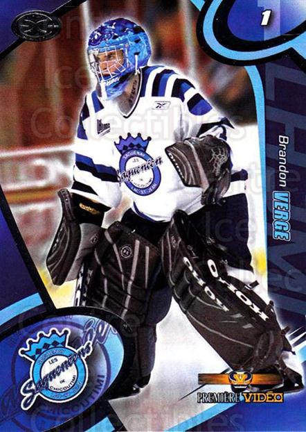 2004-05 Chicoutimi Sagueneens #4 Brandon Verge<br/>1 In Stock - $3.00 each - <a href=https://centericecollectibles.foxycart.com/cart?name=2004-05%20Chicoutimi%20Sagueneens%20%234%20Brandon%20Verge...&price=$3.00&code=670809 class=foxycart> Buy it now! </a>