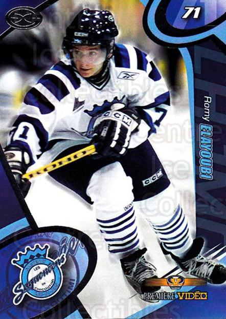 2004-05 Chicoutimi Sagueneens #16 Romy Elayoubi<br/>1 In Stock - $3.00 each - <a href=https://centericecollectibles.foxycart.com/cart?name=2004-05%20Chicoutimi%20Sagueneens%20%2316%20Romy%20Elayoubi...&price=$3.00&code=670821 class=foxycart> Buy it now! </a>