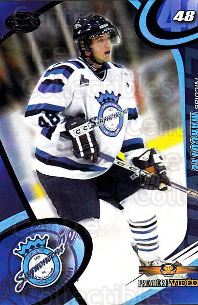 2004-05 Chicoutimi Sagueneens #20 Nicolas Marcotte<br/>1 In Stock - $3.00 each - <a href=https://centericecollectibles.foxycart.com/cart?name=2004-05%20Chicoutimi%20Sagueneens%20%2320%20Nicolas%20Marcott...&price=$3.00&code=670825 class=foxycart> Buy it now! </a>