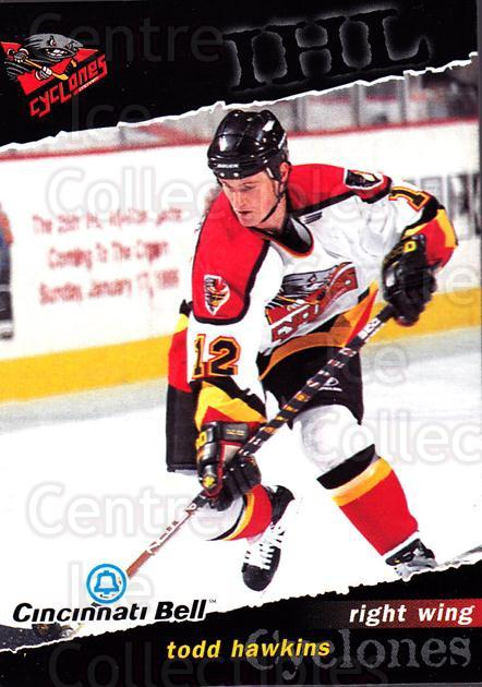 1998-99 Cincinnati Cyclones #1 Todd Hawkins<br/>1 In Stock - $3.00 each - <a href=https://centericecollectibles.foxycart.com/cart?name=1998-99%20Cincinnati%20Cyclones%20%231%20Todd%20Hawkins...&quantity_max=1&price=$3.00&code=670830 class=foxycart> Buy it now! </a>