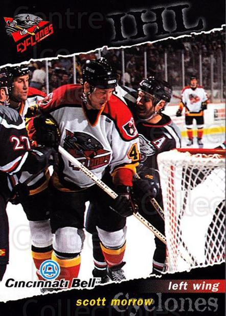 1998-99 Cincinnati Cyclones #9 Scott Morrow<br/>2 In Stock - $3.00 each - <a href=https://centericecollectibles.foxycart.com/cart?name=1998-99%20Cincinnati%20Cyclones%20%239%20Scott%20Morrow...&quantity_max=2&price=$3.00&code=670832 class=foxycart> Buy it now! </a>
