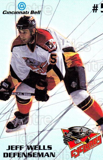 1997-98 Cincinnati Cyclones #18 Jeff Wells<br/>1 In Stock - $3.00 each - <a href=https://centericecollectibles.foxycart.com/cart?name=1997-98%20Cincinnati%20Cyclones%20%2318%20Jeff%20Wells...&quantity_max=1&price=$3.00&code=670859 class=foxycart> Buy it now! </a>