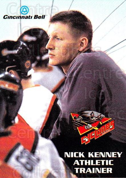1997-98 Cincinnati Cyclones #23 Nick Kenney<br/>1 In Stock - $3.00 each - <a href=https://centericecollectibles.foxycart.com/cart?name=1997-98%20Cincinnati%20Cyclones%20%2323%20Nick%20Kenney...&quantity_max=1&price=$3.00&code=670864 class=foxycart> Buy it now! </a>