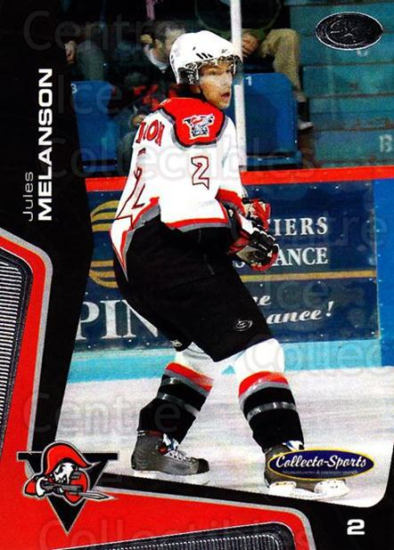 2005-06 Drummondville Voltigeurs #5 Jules Melanson<br/>1 In Stock - $3.00 each - <a href=https://centericecollectibles.foxycart.com/cart?name=2005-06%20Drummondville%20Voltigeurs%20%235%20Jules%20Melanson...&quantity_max=1&price=$3.00&code=670870 class=foxycart> Buy it now! </a>