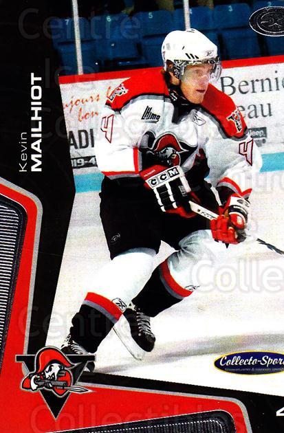 2005-06 Drummondville Voltigeurs #6 Kevin Mailhiot<br/>1 In Stock - $3.00 each - <a href=https://centericecollectibles.foxycart.com/cart?name=2005-06%20Drummondville%20Voltigeurs%20%236%20Kevin%20Mailhiot...&price=$3.00&code=670871 class=foxycart> Buy it now! </a>