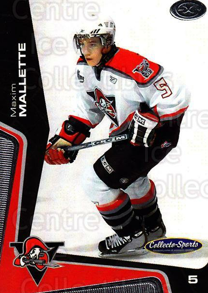 2005-06 Drummondville Voltigeurs #7 Maxime Mallette<br/>1 In Stock - $3.00 each - <a href=https://centericecollectibles.foxycart.com/cart?name=2005-06%20Drummondville%20Voltigeurs%20%237%20Maxime%20Mallette...&price=$3.00&code=670872 class=foxycart> Buy it now! </a>