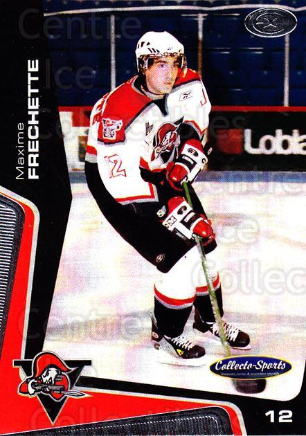 2005-06 Drummondville Voltigeurs #10 Maxime Frechette<br/>1 In Stock - $3.00 each - <a href=https://centericecollectibles.foxycart.com/cart?name=2005-06%20Drummondville%20Voltigeurs%20%2310%20Maxime%20Frechett...&price=$3.00&code=670875 class=foxycart> Buy it now! </a>