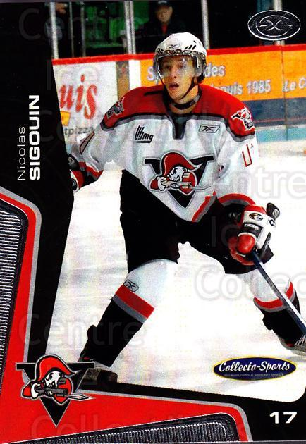2005-06 Drummondville Voltigeurs #13 Nicolas Sigouin<br/>1 In Stock - $3.00 each - <a href=https://centericecollectibles.foxycart.com/cart?name=2005-06%20Drummondville%20Voltigeurs%20%2313%20Nicolas%20Sigouin...&price=$3.00&code=670878 class=foxycart> Buy it now! </a>
