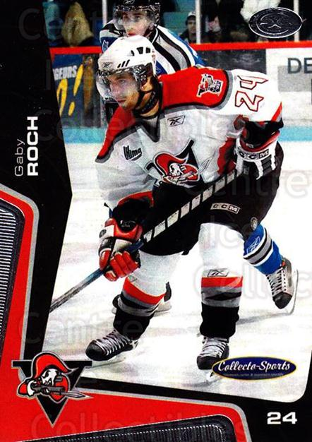 2005-06 Drummondville Voltigeurs #16 Gaby Roch<br/>1 In Stock - $3.00 each - <a href=https://centericecollectibles.foxycart.com/cart?name=2005-06%20Drummondville%20Voltigeurs%20%2316%20Gaby%20Roch...&price=$3.00&code=670881 class=foxycart> Buy it now! </a>