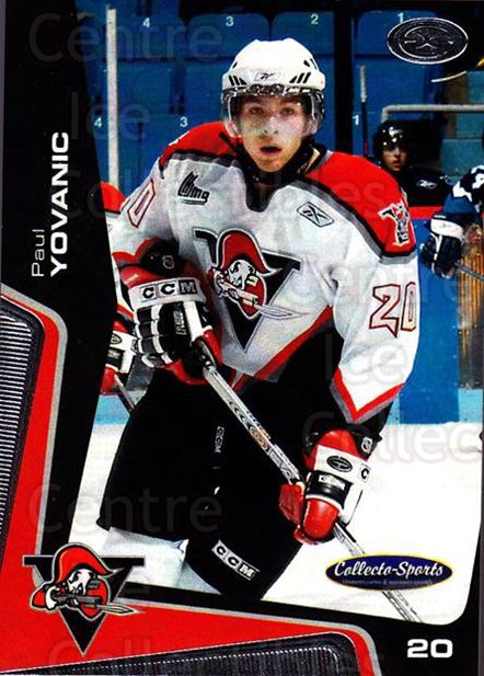 2005-06 Drummondville Voltigeurs #22 Paul Yovanic<br/>1 In Stock - $3.00 each - <a href=https://centericecollectibles.foxycart.com/cart?name=2005-06%20Drummondville%20Voltigeurs%20%2322%20Paul%20Yovanic...&price=$3.00&code=670887 class=foxycart> Buy it now! </a>