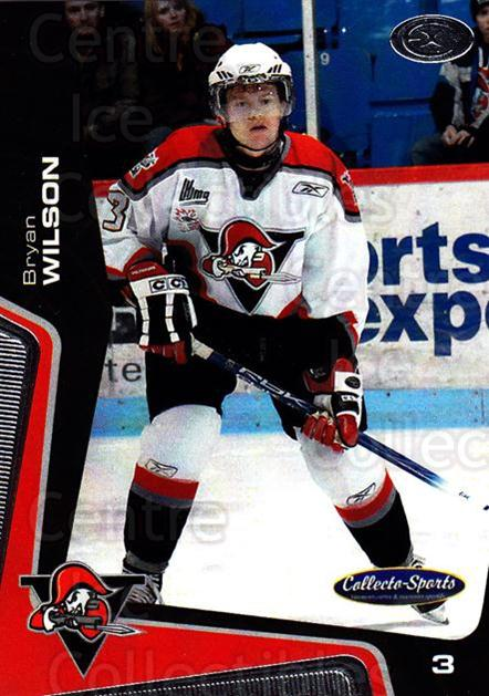 2005-06 Drummondville Voltigeurs #25 Bryan Wilson<br/>1 In Stock - $3.00 each - <a href=https://centericecollectibles.foxycart.com/cart?name=2005-06%20Drummondville%20Voltigeurs%20%2325%20Bryan%20Wilson...&price=$3.00&code=670890 class=foxycart> Buy it now! </a>