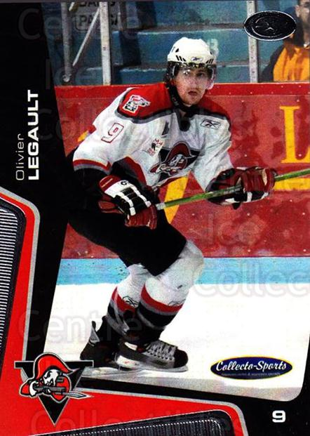 2005-06 Drummondville Voltigeurs #26 Olivier Legault<br/>1 In Stock - $3.00 each - <a href=https://centericecollectibles.foxycart.com/cart?name=2005-06%20Drummondville%20Voltigeurs%20%2326%20Olivier%20Legault...&price=$3.00&code=670891 class=foxycart> Buy it now! </a>
