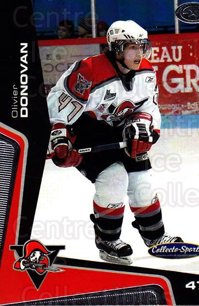 2005-06 Drummondville Voltigeurs #30 Olivier Donovan<br/>1 In Stock - $3.00 each - <a href=https://centericecollectibles.foxycart.com/cart?name=2005-06%20Drummondville%20Voltigeurs%20%2330%20Olivier%20Donovan...&price=$3.00&code=670895 class=foxycart> Buy it now! </a>