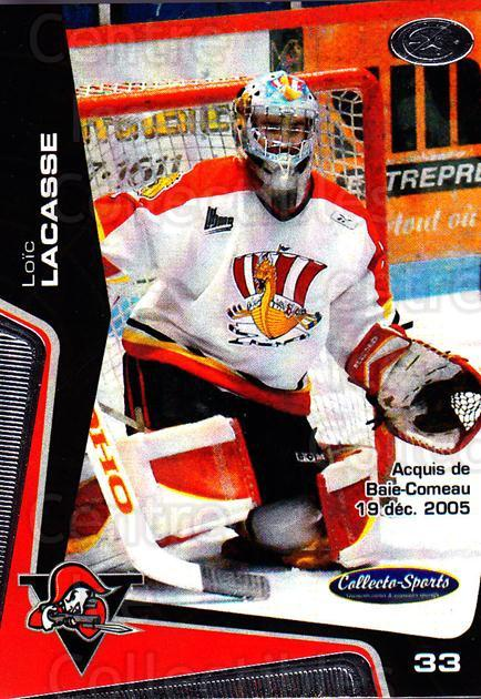 2005-06 Drummondville Voltigeurs #31 Loic Lacasse<br/>1 In Stock - $3.00 each - <a href=https://centericecollectibles.foxycart.com/cart?name=2005-06%20Drummondville%20Voltigeurs%20%2331%20Loic%20Lacasse...&price=$3.00&code=670896 class=foxycart> Buy it now! </a>