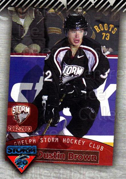 2010-11 Guelph Storm Top 20 All-Time #4 Dustin Brown<br/>1 In Stock - $3.00 each - <a href=https://centericecollectibles.foxycart.com/cart?name=2010-11%20Guelph%20Storm%20Top%2020%20All-Time%20%234%20Dustin%20Brown...&quantity_max=1&price=$3.00&code=670928 class=foxycart> Buy it now! </a>