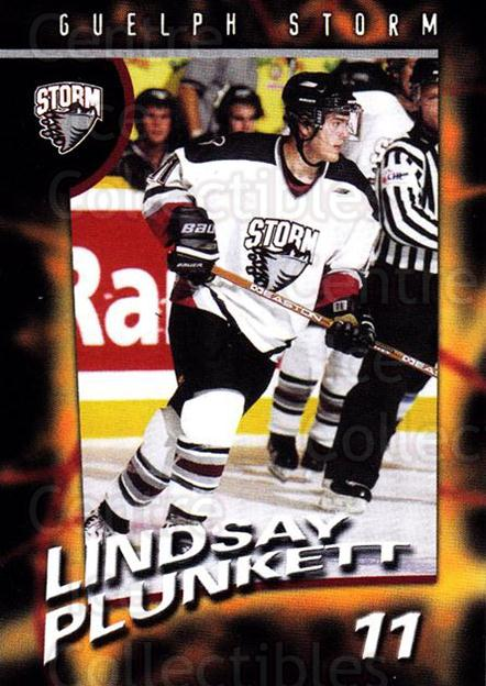 1998-99 Guelph Storm #11 Lindsay Plunkett<br/>1 In Stock - $3.00 each - <a href=https://centericecollectibles.foxycart.com/cart?name=1998-99%20Guelph%20Storm%20%2311%20Lindsay%20Plunket...&quantity_max=1&price=$3.00&code=670956 class=foxycart> Buy it now! </a>