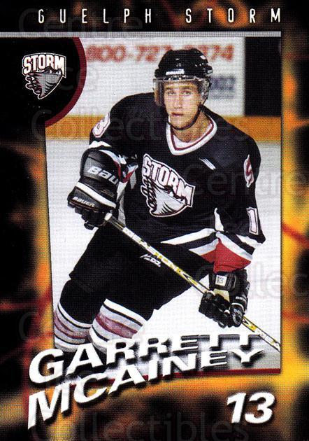 1998-99 Guelph Storm #13 Garrett McAiney<br/>1 In Stock - $3.00 each - <a href=https://centericecollectibles.foxycart.com/cart?name=1998-99%20Guelph%20Storm%20%2313%20Garrett%20McAiney...&quantity_max=1&price=$3.00&code=670958 class=foxycart> Buy it now! </a>