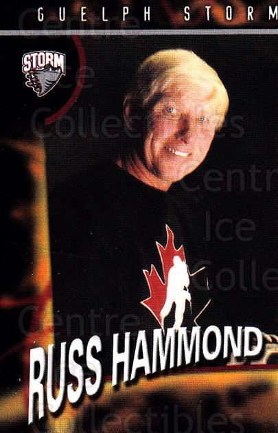 1998-99 Guelph Storm #27 Russ Hammond<br/>1 In Stock - $3.00 each - <a href=https://centericecollectibles.foxycart.com/cart?name=1998-99%20Guelph%20Storm%20%2327%20Russ%20Hammond...&quantity_max=1&price=$3.00&code=670972 class=foxycart> Buy it now! </a>