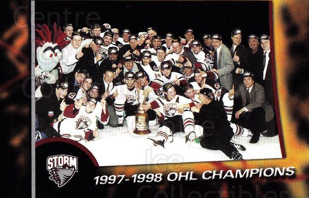 1998-99 Guelph Storm #30 Team Photo<br/>1 In Stock - $2.00 each - <a href=https://centericecollectibles.foxycart.com/cart?name=1998-99%20Guelph%20Storm%20%2330%20Team%20Photo...&price=$2.00&code=670975 class=foxycart> Buy it now! </a>