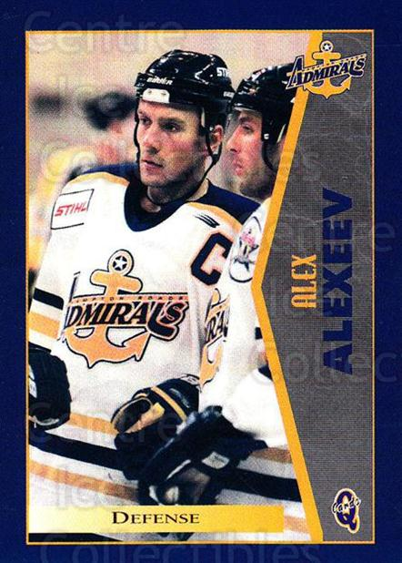 1997-98 Hampton Roads Admirals #2 Alexander Alexeev<br/>1 In Stock - $3.00 each - <a href=https://centericecollectibles.foxycart.com/cart?name=1997-98%20Hampton%20Roads%20Admirals%20%232%20Alexander%20Alexe...&quantity_max=1&price=$3.00&code=670983 class=foxycart> Buy it now! </a>