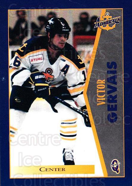 1997-98 Hampton Roads Admirals #8 Victor Gervais<br/>1 In Stock - $3.00 each - <a href=https://centericecollectibles.foxycart.com/cart?name=1997-98%20Hampton%20Roads%20Admirals%20%238%20Victor%20Gervais...&quantity_max=1&price=$3.00&code=670989 class=foxycart> Buy it now! </a>