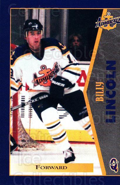 1997-98 Hampton Roads Admirals #12 Bill Lincoln<br/>1 In Stock - $3.00 each - <a href=https://centericecollectibles.foxycart.com/cart?name=1997-98%20Hampton%20Roads%20Admirals%20%2312%20Bill%20Lincoln...&quantity_max=1&price=$3.00&code=670993 class=foxycart> Buy it now! </a>